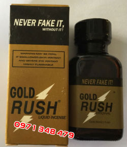 Thuốc ngửi kích dục nam Gold Rush Poppers by PWD 30ml (New 2016)